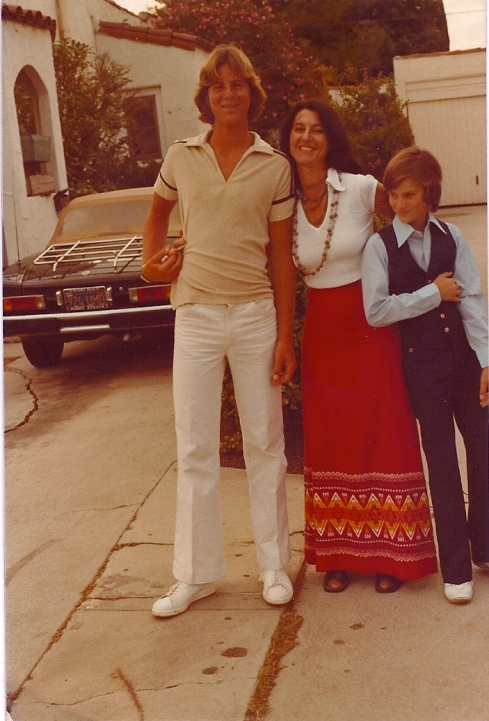 Me, my mother and my brother Nicky in West Hollywood before a wedding in 1979.