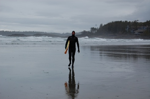 It is cold but beautiful on Vancouver Island. Somewhere near Tofino.