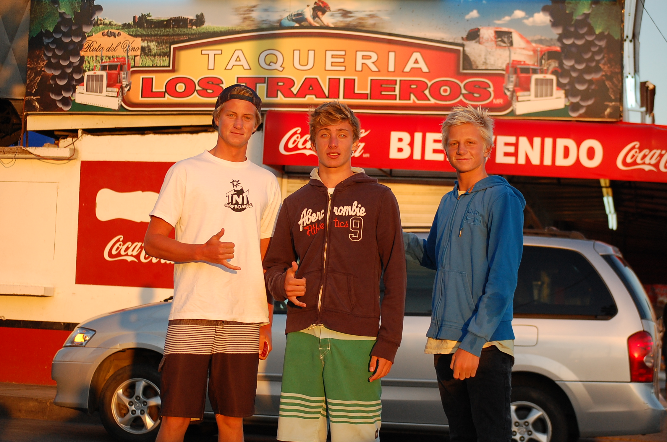 A post surf session pit stop at Los Traileros is required for northern Baja surf trips.