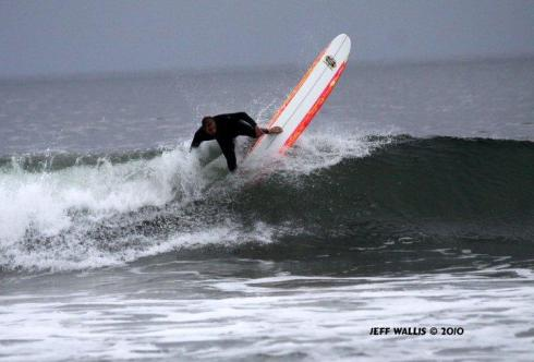 Chris Russell on a SK longboard. Photo courtesy Jeff Wallis.