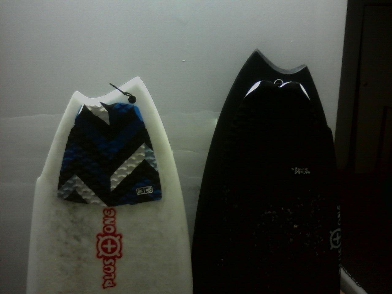 Plus One asymmetrical boards.