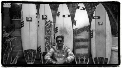 Sean Fowler with his SK quiver. Photo courtesy S. Fowler.