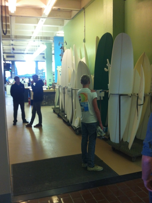 Daniel checking out the shaping classroom at Cal Poly.