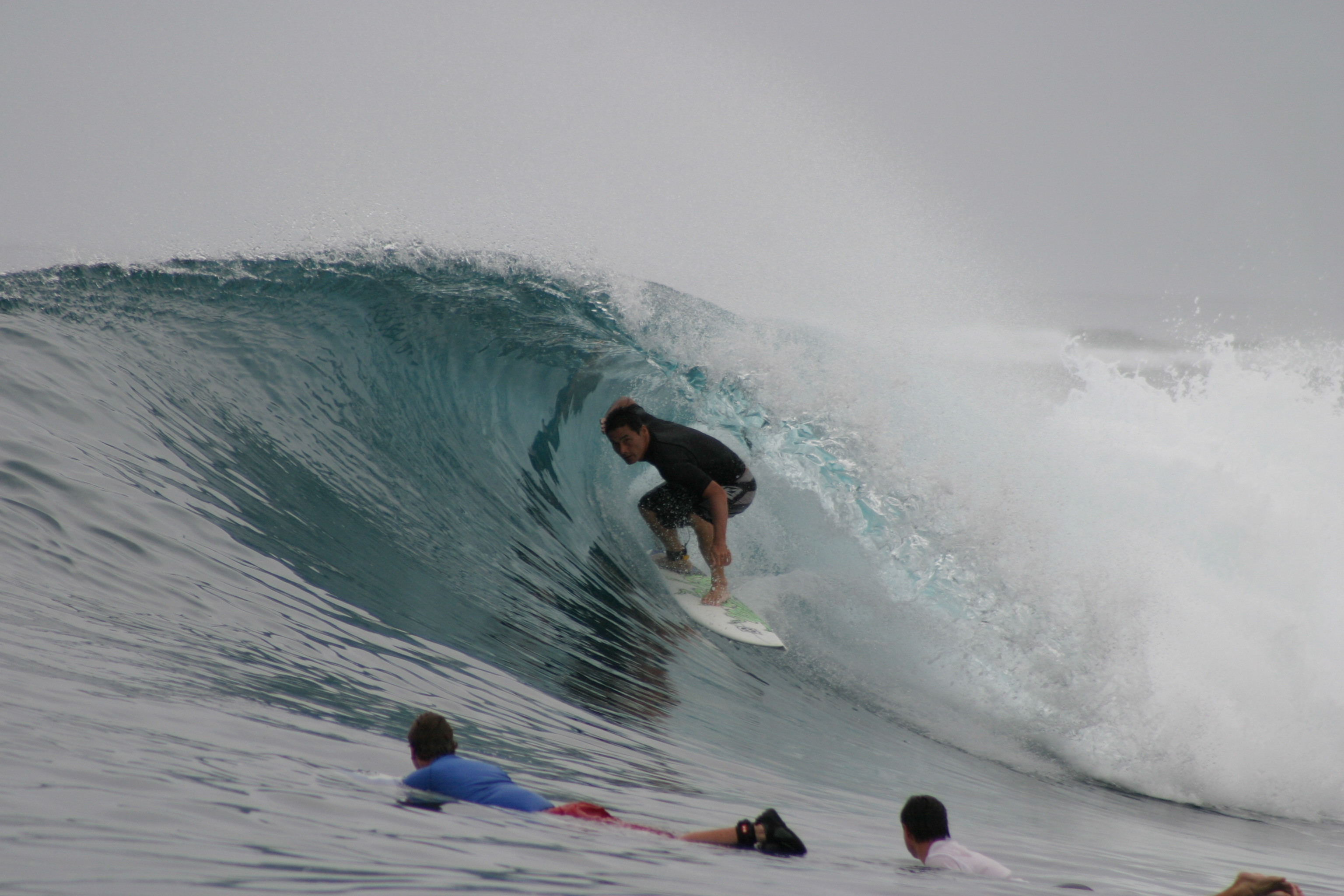 George surfing Indonesia. Photo courtesy of G. Gall.