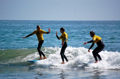 The boys and I sharing a wave.