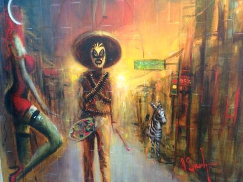 A mural in Pasaje Rodriguez.