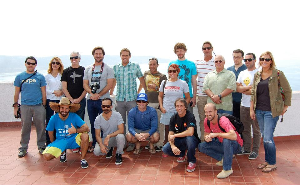 Some of the group on a field trip to visit the Bahia de Todos Santos World Surfing Reserve.
