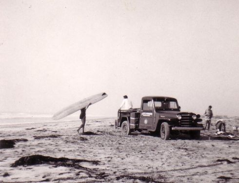 Lifeguards at the Tijuana Rivermouth, 1950s. Photo: John Elwell.
