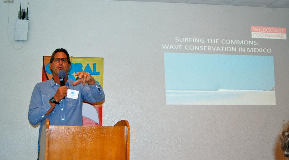 Here I am presenting on wave conservation in Mexico.