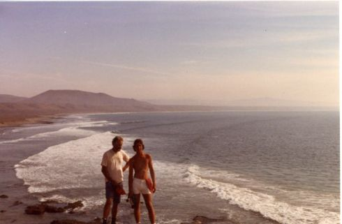 With my dad in central Baja in 1979.