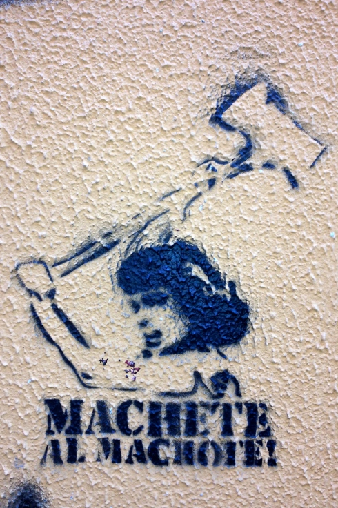 Street stencil in Barrio Lavapies.
