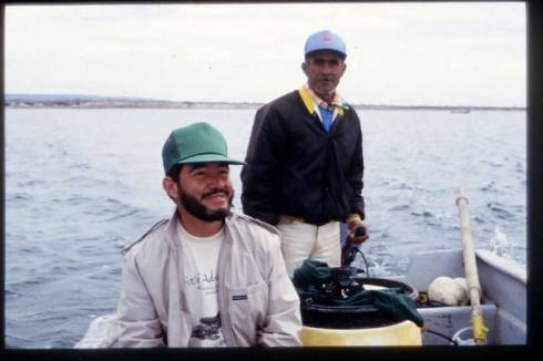 On a tour of Laguna San Ignacio with Don Pachico and a Profepa inspector in early 1994.