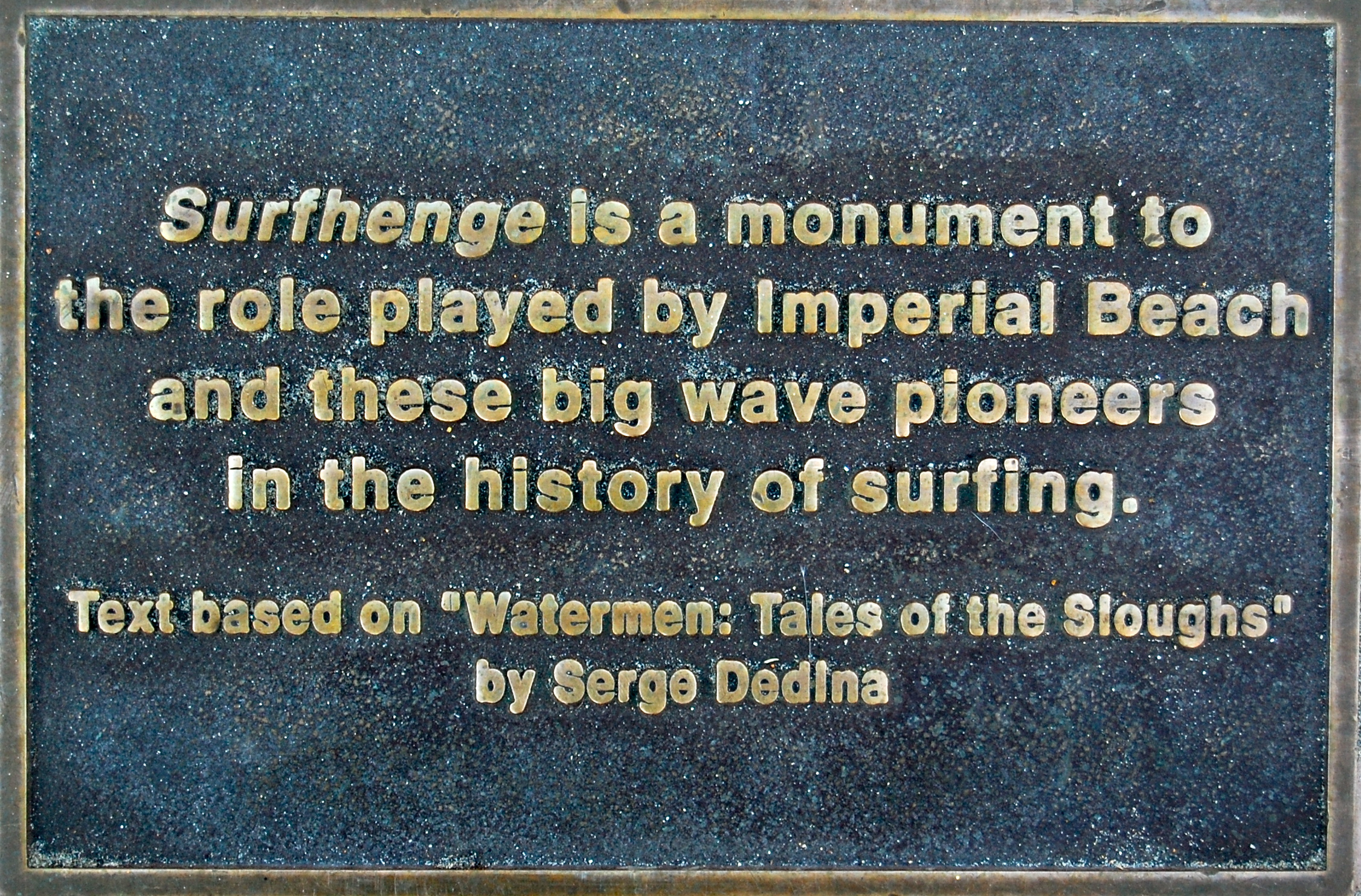 I am very honored to have helped to provided the information that was used in many of the plaques along the pier. The project honors the history of surfing the Tijuana Sloughs reef.