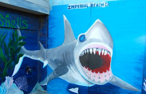 Bibbey's Shell Shop is an IB landmark and this shark is a favorite photo stop for tourists and locals.