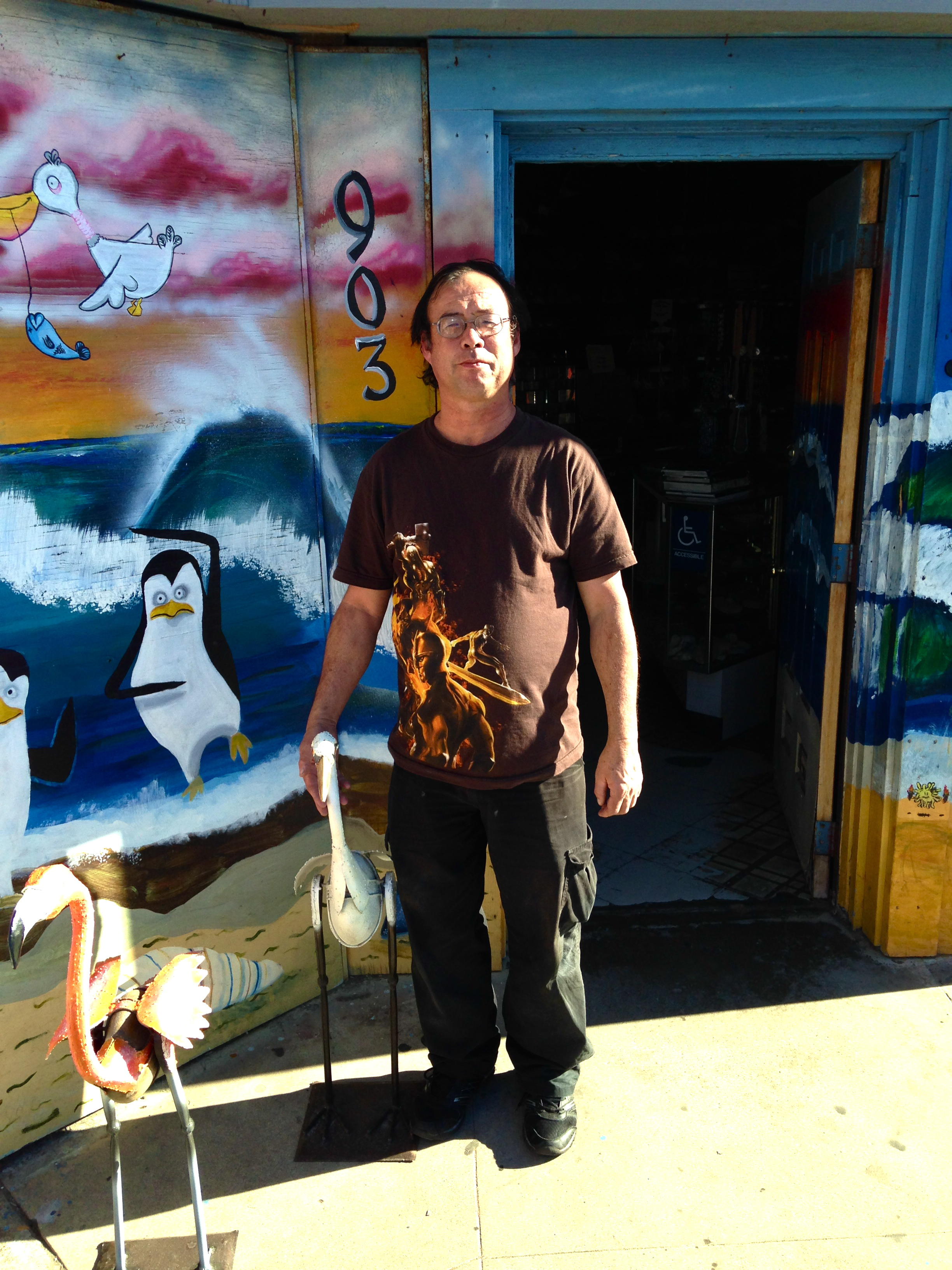Mike Bibbey, the owner of Bibbey's Shell Shop, is awesome--full of energy, passion and creativity.