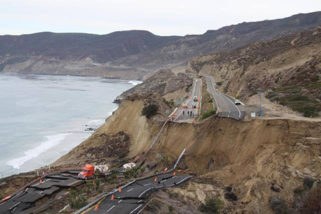 The section of the toll road that collapsed. This was totally preventable.