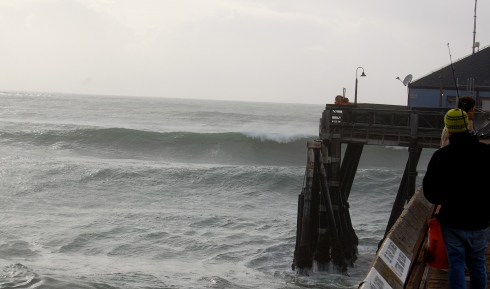 The surf tripled in size on Saturday March 1st and by the end of the day was breaking out past the Imperial Beach Pier.