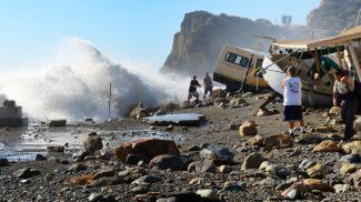 Damage on Catalina. Photo: LA Times