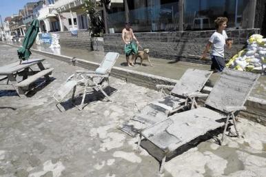 Flood damage in Seal Beach.
