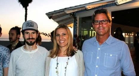 Brad Delson of Linkin Park, Whitney Showler of MRF and Serge Dedina of WILDCOAST at the MFR Mangrove /Ocean Campaign Launch in Venice Beach.