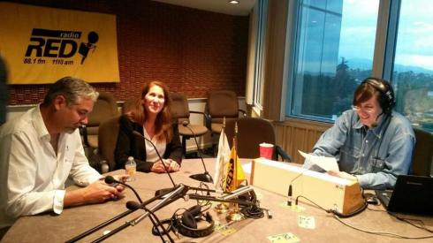 Eduardo Najera and Fay Crevoshay of WILDCOAST on Radio Red in Mexico City talking about climate change and the need for mangrove conservation.